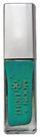 Бирюзовая (сине-зеленая) клей-краска для временной татуировки блестками moon light